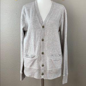 J. Crew gray sweatshirt v neck cardigan